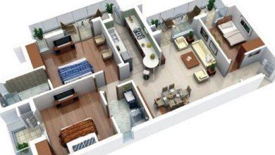 Photo of Denah 3D Rumah 2 Bedroom yang Bisa Jadi Referensi