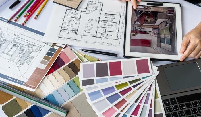 pemilihan material desain interior