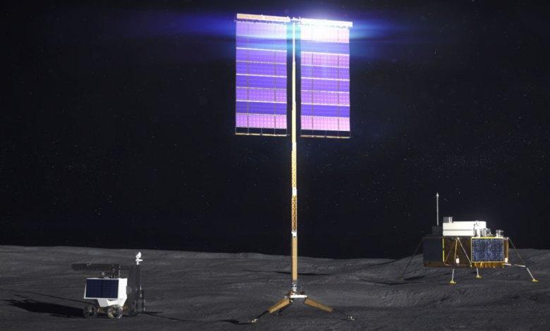 panel surya nasa di bulan