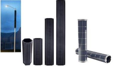 panel surya silinder