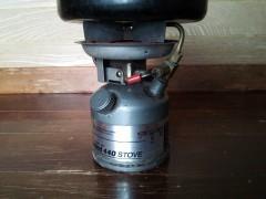 液体燃料一体式のシングルバーナー