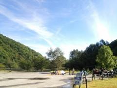 久々の晴天になった七入オートキャンプ場