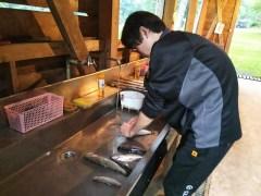 釣り上げた岩魚の下処理