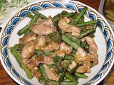 エラと鶏肉の味噌炒め