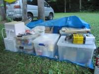キャンプ道具が汚れないように