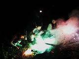 花火をしてキャンプ終了