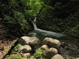 ウルイ谷の滝壺