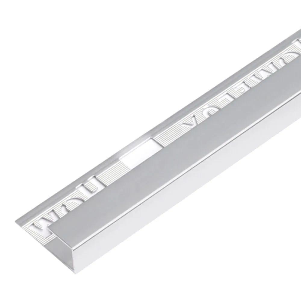 homelux 12 5mm silver square edge metal tile trim 2 5m
