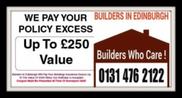 Repairing Subsidence Damage - We pay Your policy Excess - Builders In Edinburgh
