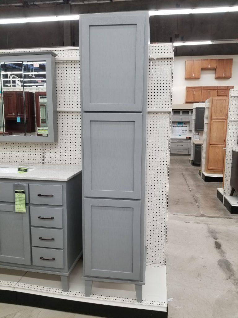 Quaker Gray Oak Linen Cabinet Builders Surplus