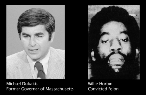 Michael Dukakis was linked to rapist Willie Horton in the election.