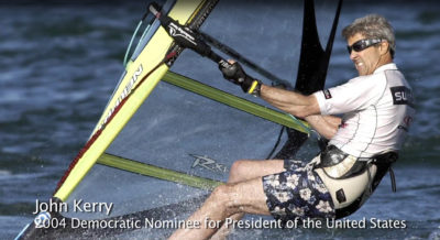 John Kerry windsurfing