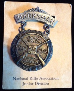 Image of Ted's marksman medal