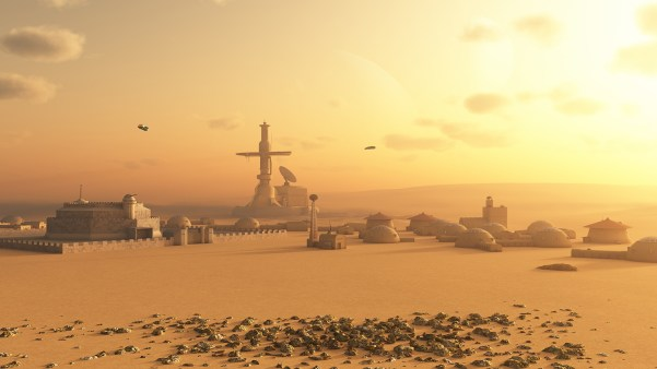 Image of an imagined colony on Mars