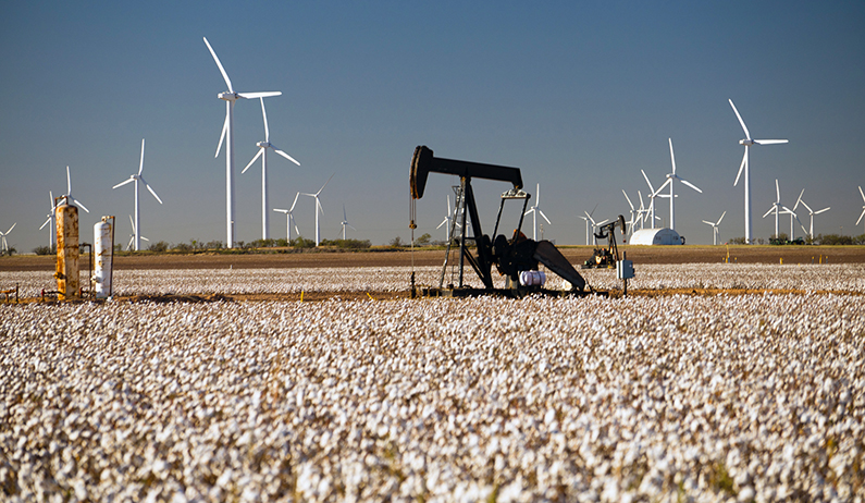 Texas windmills & oil pumps