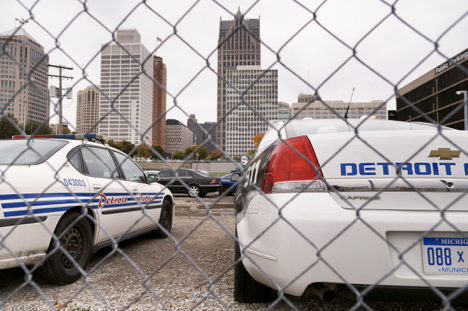 Detroit police department squad cars