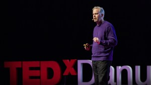 Brett Hennig giving a TedX talk