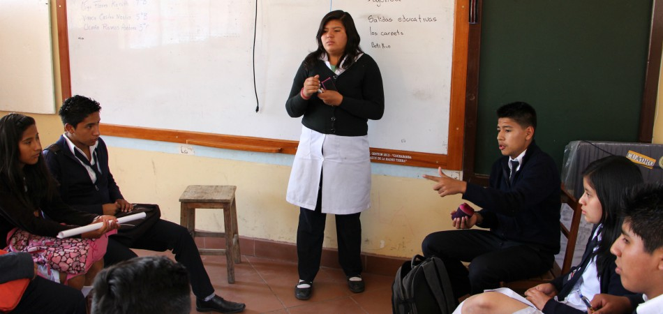 Female Student at White Board