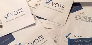 Envelopes soliciting proxy votes