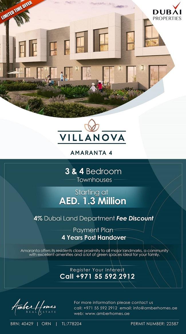 Villanova Amaranta 4 Dubai Properties