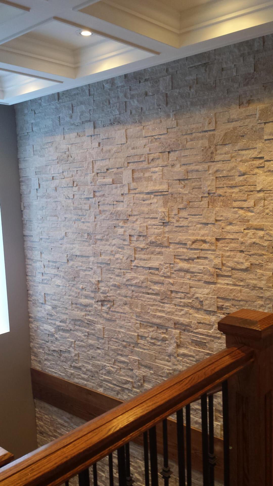 Indoor Stone Veneer Installation Halton Hills Ontario