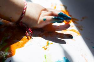 preschool near me finger painting