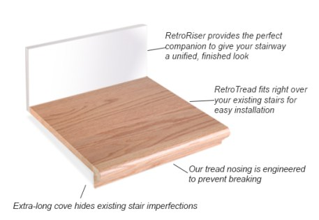 prefinished stair treads solid hardwood in-stock