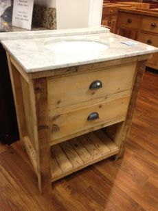 amish made reclaimed barnwood rustic vanity with drawers