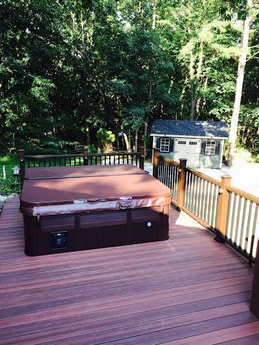 evergrain envisions shaded auburn pvc coated composite decking rettinger and fiberon mission railing