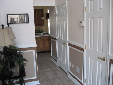 foyer with custom paint and trim in a Executive Line home
