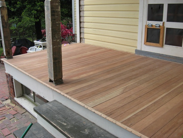 Refinishing A Mahogany Porch Sanding And Selecting The Right Finish