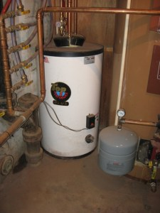 solar thermal :: new hi-effiency hot water heater replaced with thermal solar install