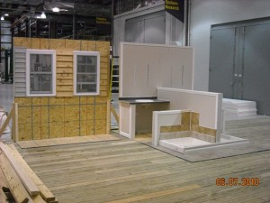 window siding and bath mockups used to perform tests at the NAHBRC
