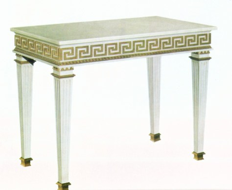 Greek Key Console Table image provided by Regina Garay
