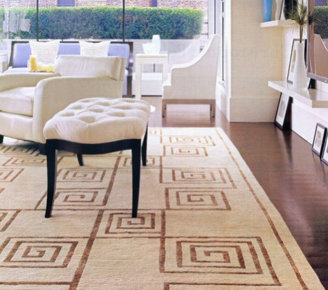 the Greek Key in Area Rugs image provided by Regina Garay
