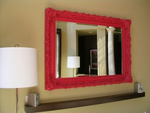 how to make eclectic work :: eclectic mirror painted