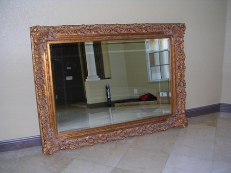 how to make eclectic work ;; detailed antique mirror