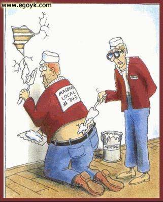 classic cartoon depicting the plumbers crack image via Alexandra Williams source: Remodel Crazy
