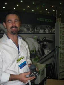 Chris Wright of WrightWorks at the Festool Booth at 2010 Remodeling Show