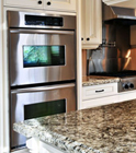 stainless steel double wall oven via Home Sweet Solutions