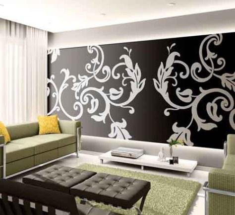 stencil designs :: large stencil design in modern room image via Regina Garay via Fauxology