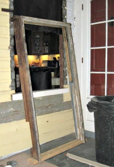 rebuilt wood window frame install