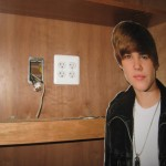 Justin Bieber (aka JB) as I wire for TV in the Hutch