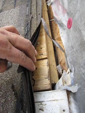 Roofing Layers Peeled Back