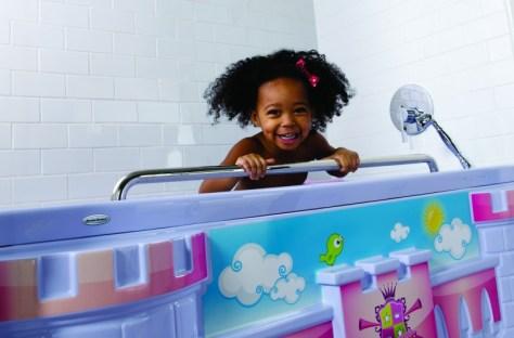 Toddler Girl In American Standard Fun Bath