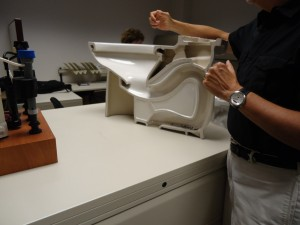 Toilet CutAway at American Standard Toilets American Standard Brands New Product Design Center