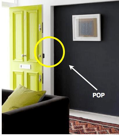 Green and Black that Pops via Donna Frasca