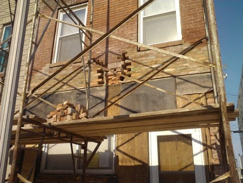 Patching Crumbling Brick with Salvaged Brick Outside In