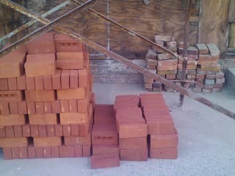 Plantation Modular Matched to Old Brick (Salvaged Brick for Repair)
