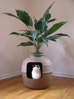 pet friendly home ideas :: Hidden Litter Planter via http://www.beautynewsnyc.com/